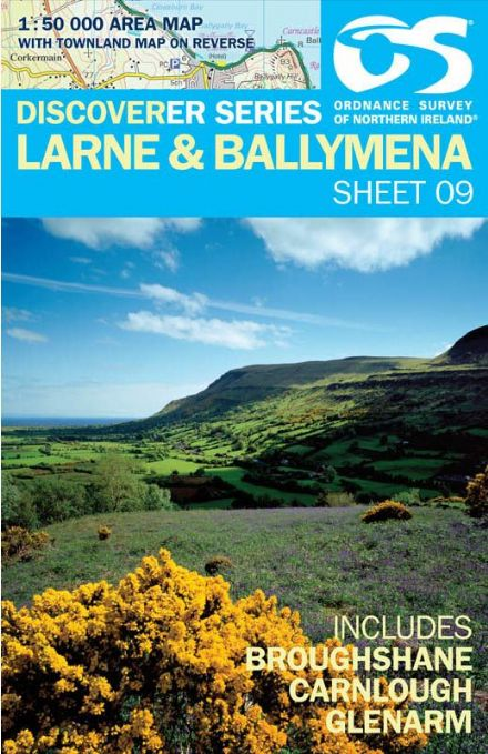 Ordnance Survey Northern Ireland 1:50,000 - Map 09 - Larne